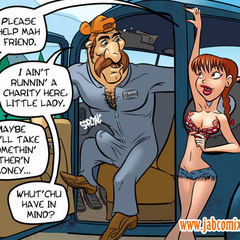 Sex cartoon - Redhead Devil makes blowjob car - Cartoon Porn Pictures - Picture 1