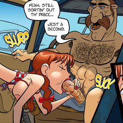 Sex cartoon - Redhead Devil makes blowjob car - Cartoon Porn Pictures - Picture 2