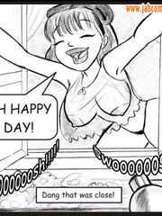 Porncartoon - Oh boy she's taking off her - Cartoon Porn Pictures - Picture 3