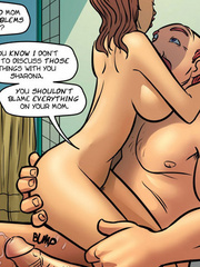 Adult comics stories - Horny redhead girl - Cartoon Porn Pictures - Picture 6