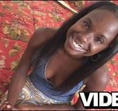 Ebony big titted teen gets gangbanged