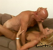 Teenie blonde Valery gets cum on her smooth skin