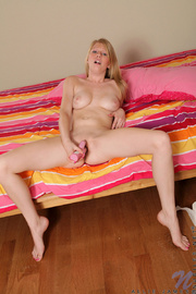 Naughty Allie James tames her horny pussy - XXX Dessert - Picture 14