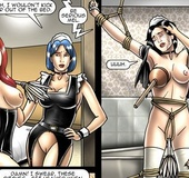 Two poor slave chicks are chained to the beds and&hellip;