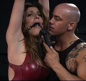 Hot and sexy slave fucked in latex