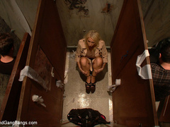 Candy Manson is helplessly bound in duct - Unique Bondage - Pic 1