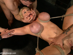 Candy Manson is helplessly bound in duct - Unique Bondage - Pic 13