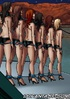 A detachment of girls in shorts-related chain…