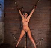 Wrist suspension while impaled. Each orgasms…