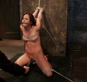20 yr old suffers tight bondage, flogging, &…