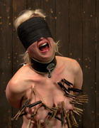 Cherry torn gets her skull fucked, blindfolded,…