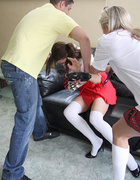 Tammy Lee hogtied and gagged by Angel Long