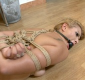 Hot blonde showgirl tied up and fuced really hard