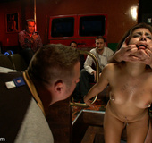 Captured perfect body slave babe gets ass fucked…