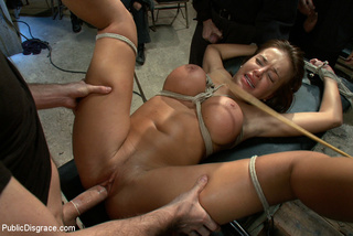 tied big boobed stunner