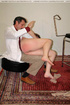 Naughty girl gets a medical examination and spanking on her big buxom