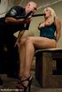 Adorable blonde babe gets tied up and handcuffed…