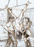 Torture drawings. Slave girl forced to satisfy all…