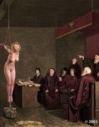 Priest watches slave girls humiliation!