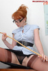 Mature redhead teacher in tight pantyhose gets her…