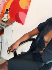 Naughty black girl amateur secretary - XXX Dessert - Picture 1