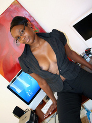 Naughty black girl amateur secretary - XXX Dessert - Picture 10
