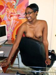 Naughty black girl amateur secretary - XXX Dessert - Picture 11