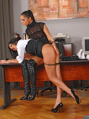 Lucy Belle punishes Liana spanking her ass - XXX Dessert - Picture 13