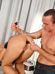 Young slim Satin Bloom gets bound and - XXX Dessert - Picture 8