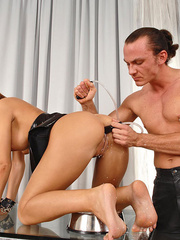 Young slim Satin Bloom gets bound and - XXX Dessert - Picture 9