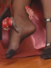 Lustful brunette and her slave girl - XXX Dessert - Picture 4