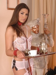 Lustful brunette and her slave girl - XXX Dessert - Picture 5