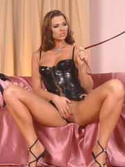 Lustful brunette and her slave girl - XXX Dessert - Picture 8