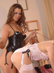 Lustful brunette and her slave girl - XXX Dessert - Picture 13