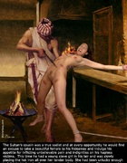 This time he had a young slave girl in his lair…