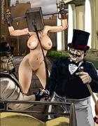 Big fat Master tortures his slave pony-girls!