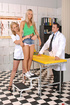 Hot blondes Niki Sabrina in deviant threesome