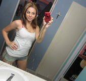 Amazing busty teen girl making hot selfshot pics…