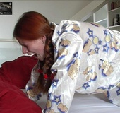 Redhead gets her spank first time in the morning.…