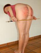 Her big ass is getting a hard spanking and she…