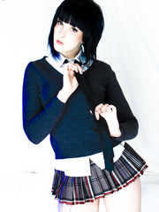 Melodie dresses as a Japanese school girl - XXX Dessert - Picture 2