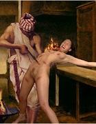 Western slave got mouth full of cum!