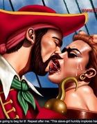 Cruel pirate fucked his redhead captive girl!