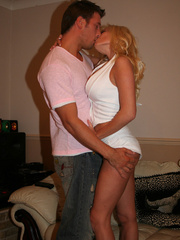 Big boobe blonde wive gets her sweet wet snatch - XXXonXXX - Pic 4