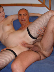 Brunette housewife in fishnet stockings gets her - XXXonXXX - Pic 10
