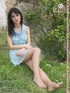 Sexy xxx foot pics of pretty hottie in pantyhose posing outdoors.