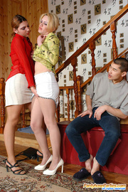 nasty gals teasing guy