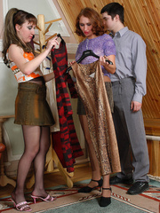 Nylon clad gals clothe guy like a sissy and get - XXXonXXX - Pic 2