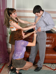 Nylon clad gals clothe guy like a sissy and get - XXXonXXX - Pic 5