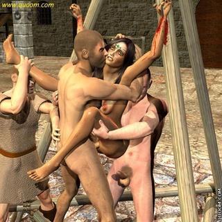 Sex slave comics - Enemies Of Rome give the public humiliation of sex - 1 ...
